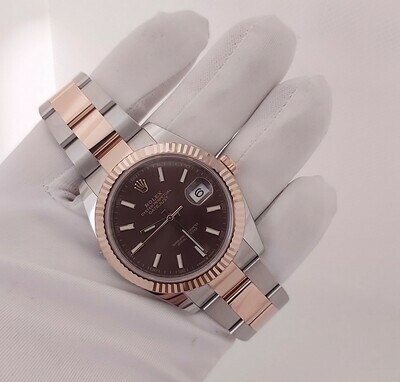 Rolex Datejust 41mm 126331 Steel & Rose Gold Chocolate Dial - Unworn Full Set