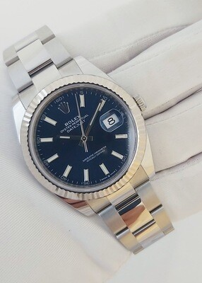 Rolex Datejust 126334 - 41mm Blue Dial - Full Set Dec 2020