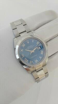 Rolex Datejust 126300 - 41mm Azzuro Blue Dial - Full Set 2021 - New & Unworn