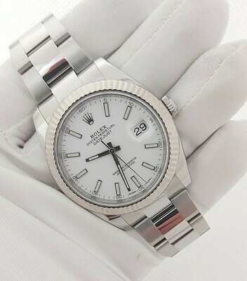 Rolex Datejust 126334 41mm - White Dial, 2019, Full Set, Exceptional condition