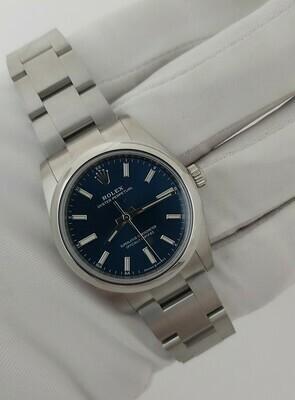 Rolex Oyster Perpetual 124200 - 34mm Blue - 2021 New & Unworn