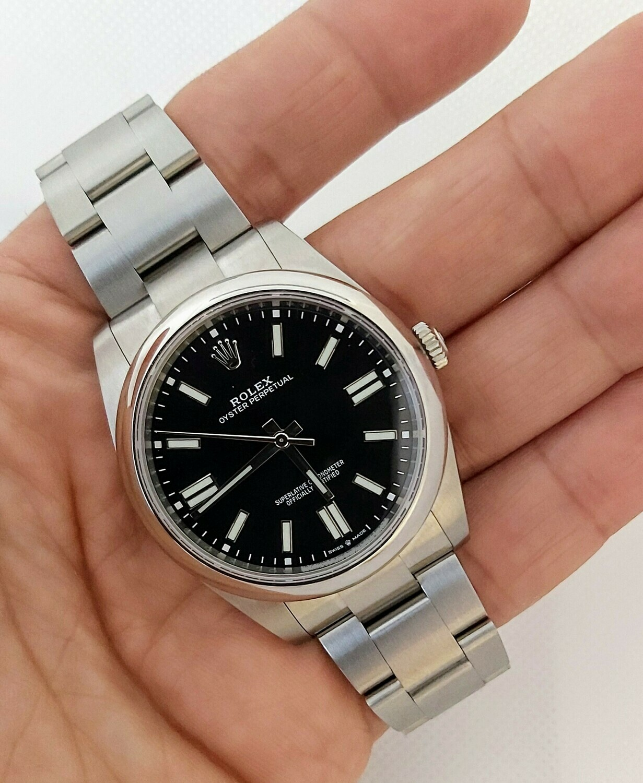 Rolex Oyster Perpetual 41 - Black Dial - 2021 Unworn Full Set