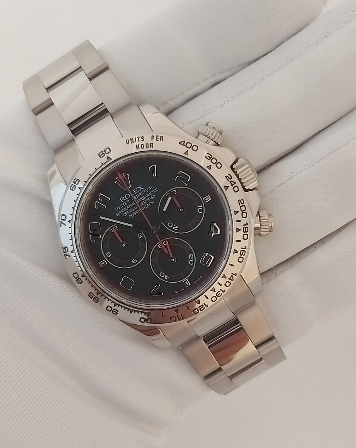 Rolex Daytona 116509 2017 White Gold - Racing Dial - Box & Papers