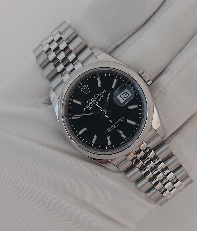 Rolex Oyster Perpetual Datejust 36mm Black 126200 - 2020 Full Set