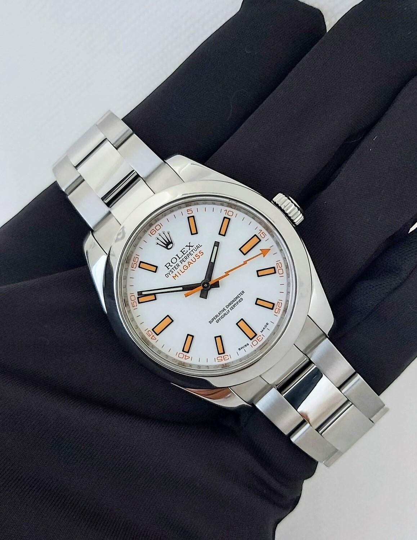 Rolex Milgauss 116400 White Dial, 2012 Excellent Condition