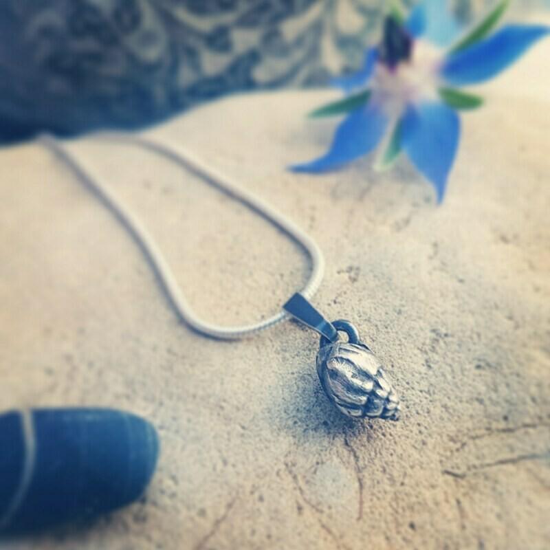 Fine Silver Periwinkle Pendant Charm