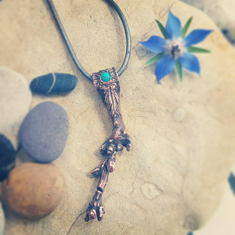 True Self Copper Tree Turquoise Amulet Pendant