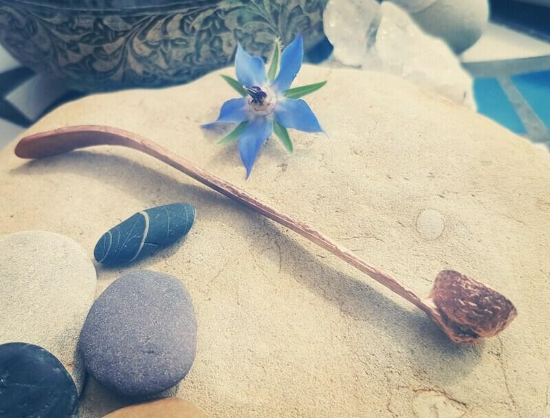 Acorn Oak Cup Shell Copper Spoon
