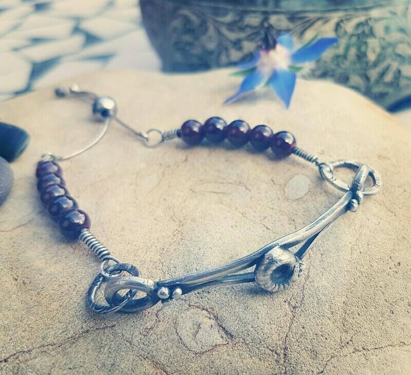 Ammonite Infinity Garnet Transitions Bracelet