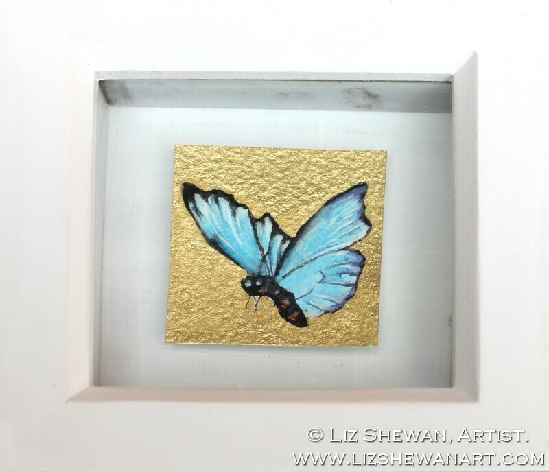 Mini Blue Butterfly Drawing