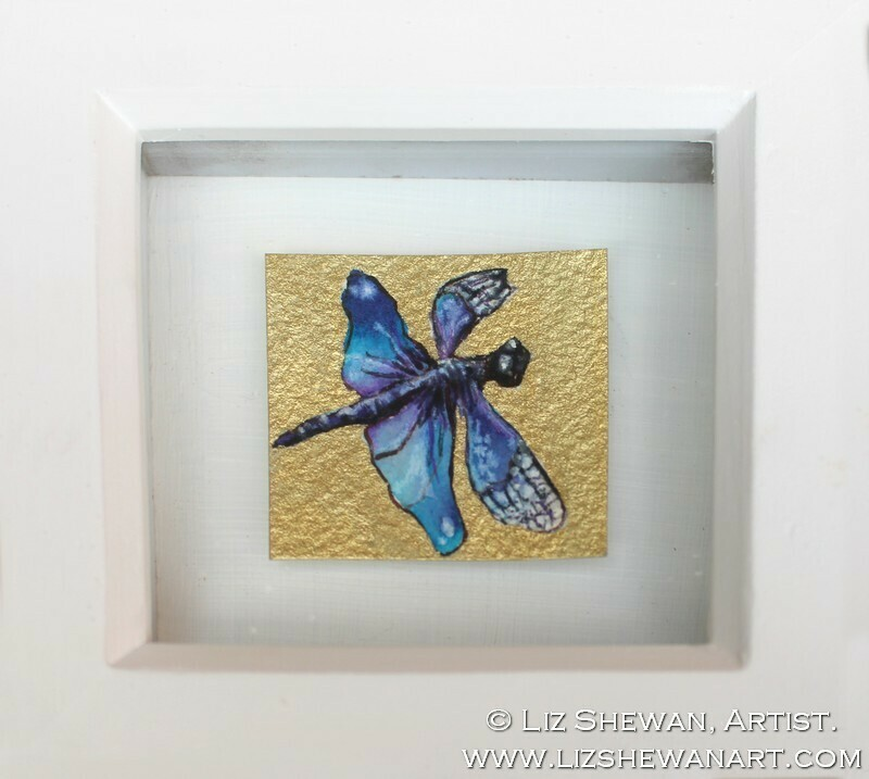 Mini Vivid Blue Butterfly Drawing   From Another World