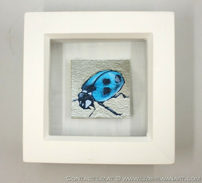 Mini Blue LadyBug Drawing 3