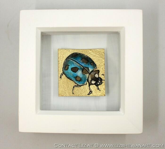 Mini Blue LadyBug Drawing 5