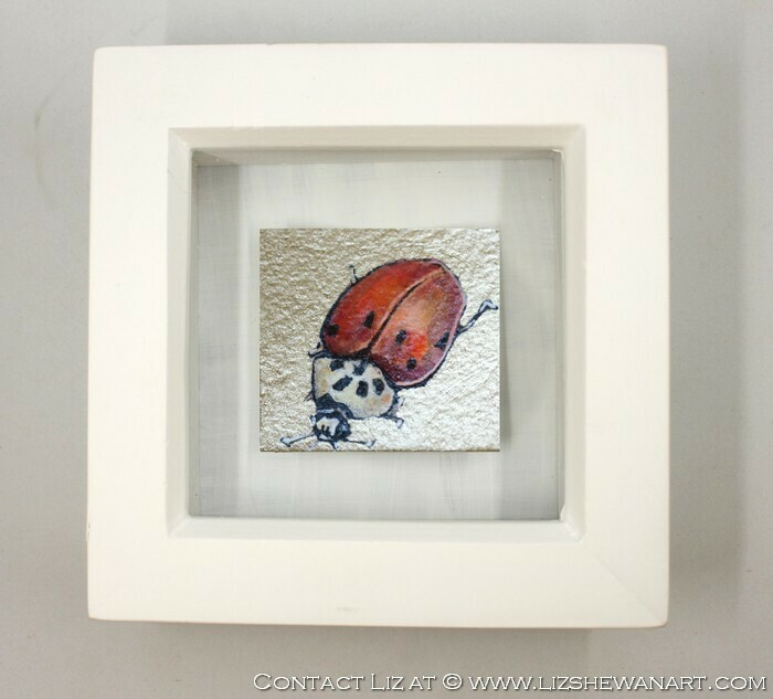 Mini Red n White LadyBug Drawing 7