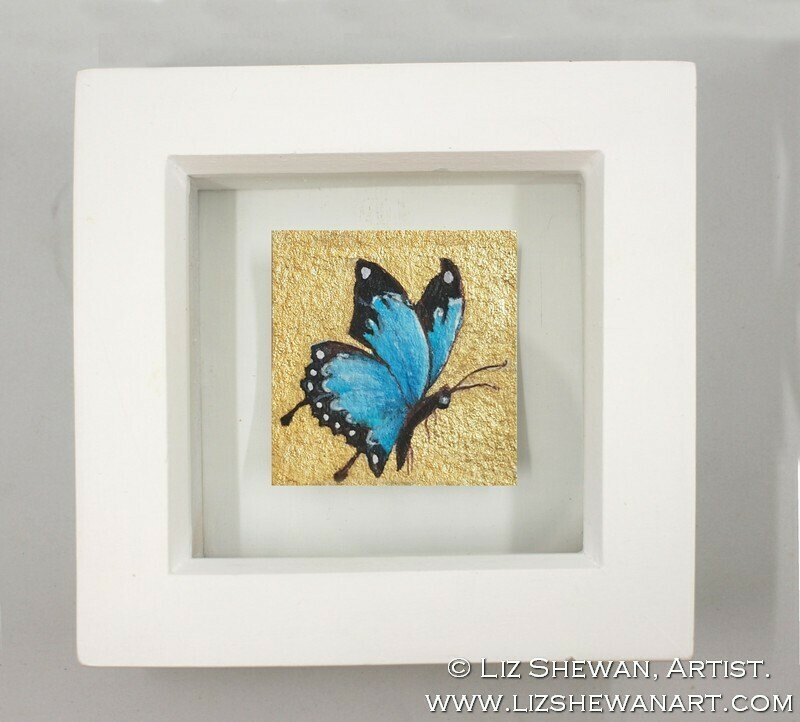 Mini Blue Butterfly Drawing 2