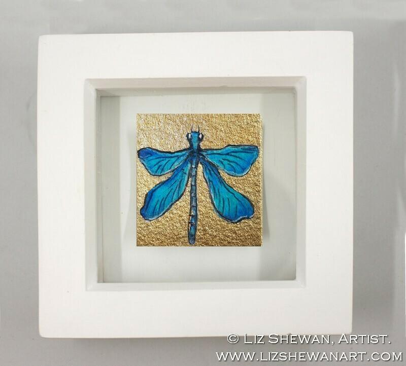 Mini Blue Moth Drawing