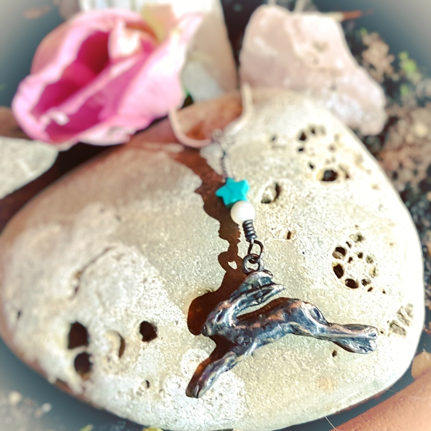 Leaping Moon Star Love Pendant