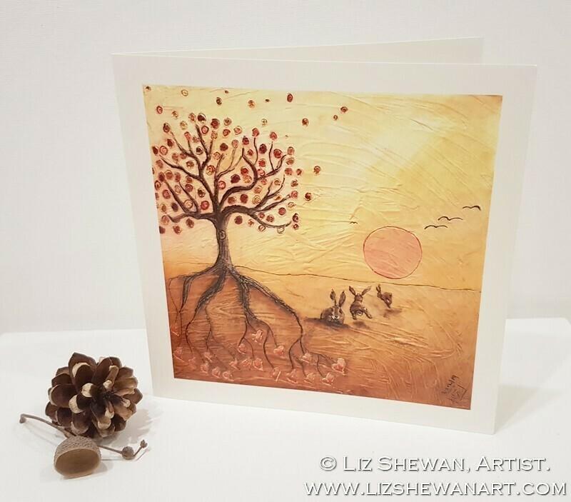 Evening Gathering Greetings Card