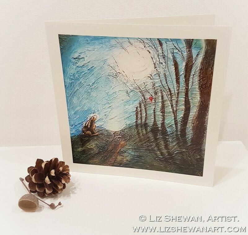 Moonheart Shadows Greetings Card