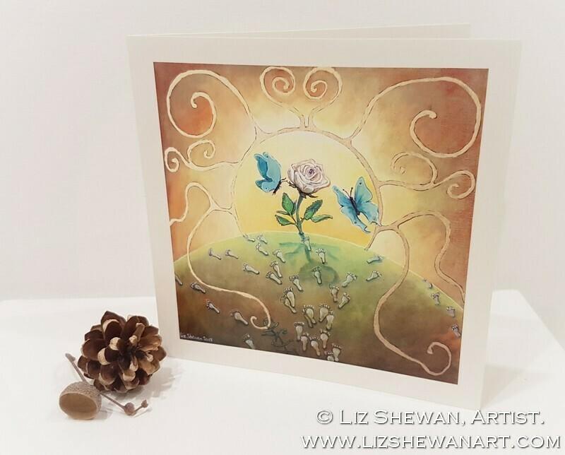 Angel Steps Greetings Card