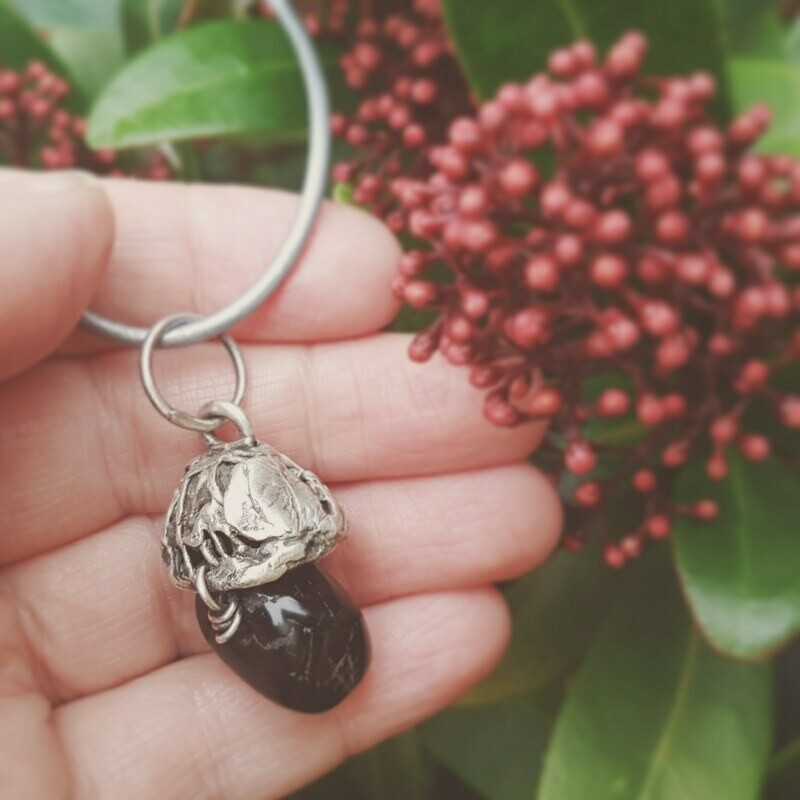 Obsidian Psychic Protection Amulet