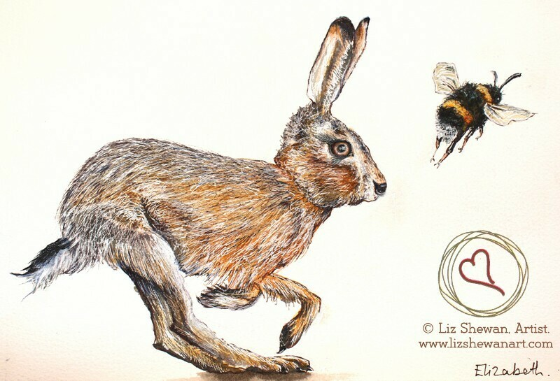 Bumble and The Hare Running