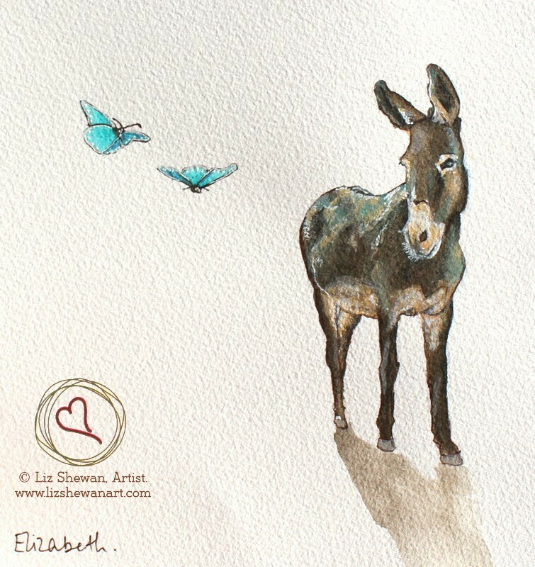 Donkey and the Butterflies