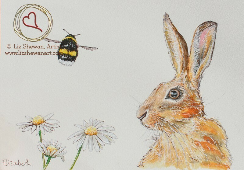 Bumble and the Hare in the Daisies
