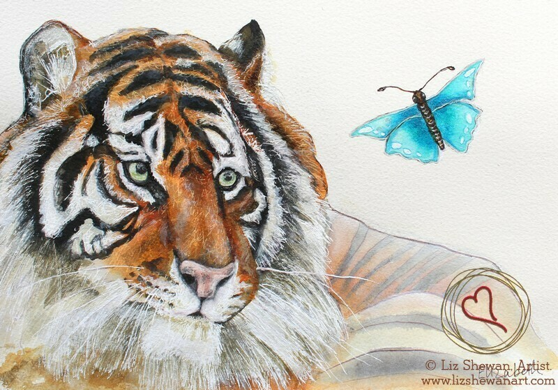 Big Tiger and the Butterfly