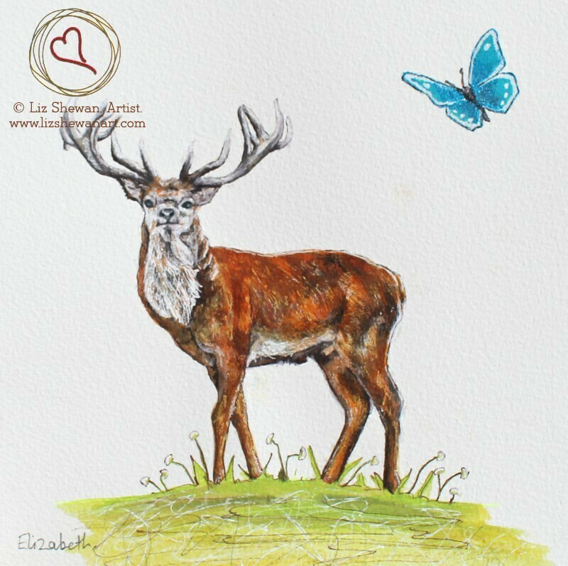 Stag and Butterfly