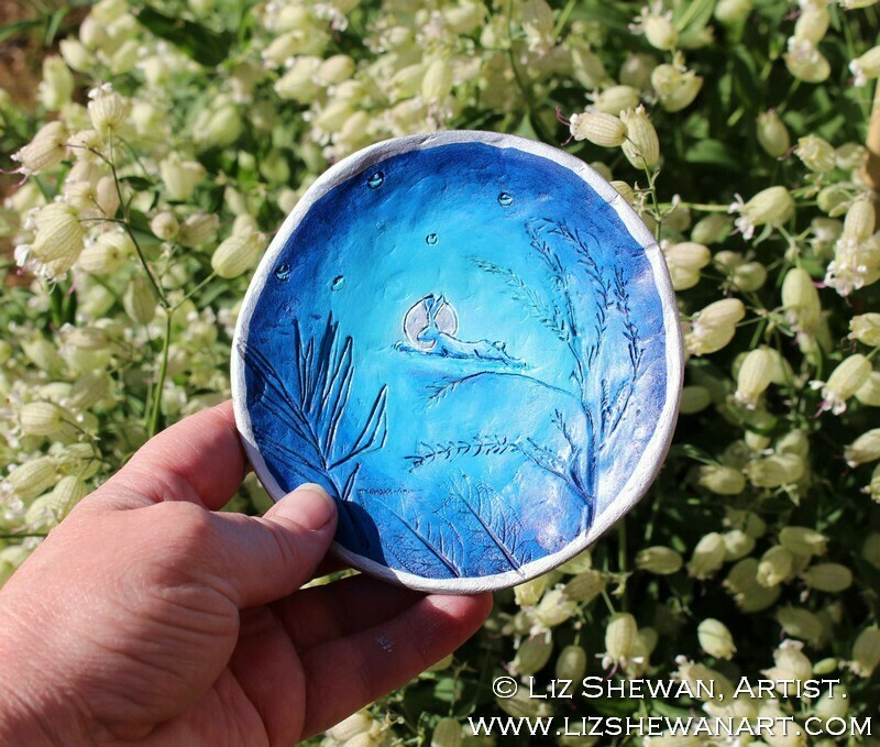 Running Hare Trinket Dish | Miniature Painting
