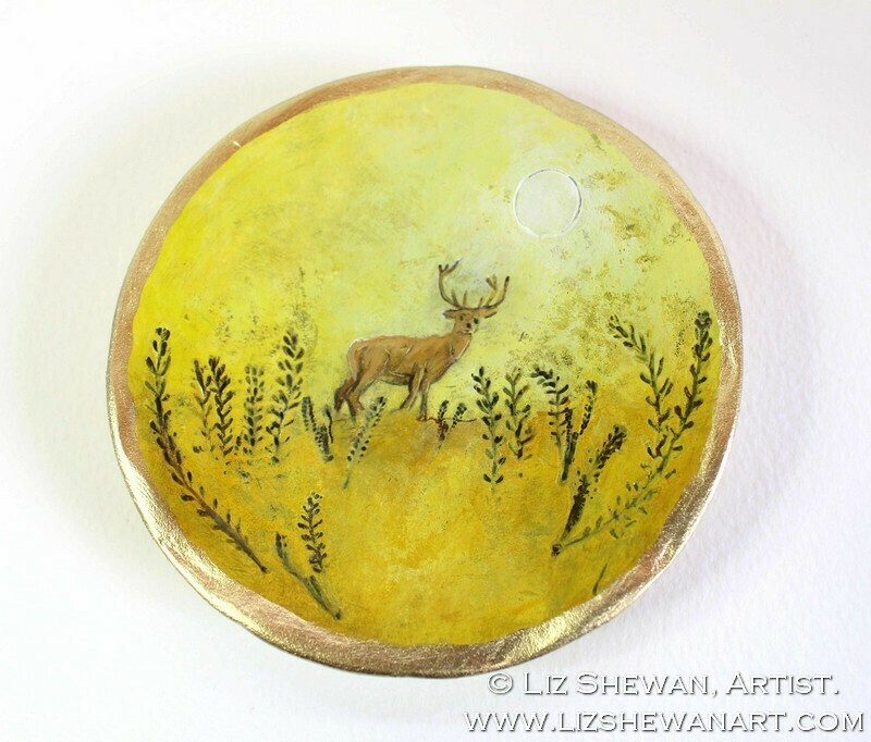Stag Trinket Dish | Miniature Painting