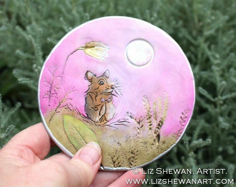 Pink Mouse Bell Shelter Trinket Dish | Miniature Painting