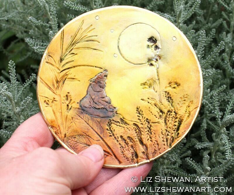 Bear Dreams Trinket Dish | Miniature Painting