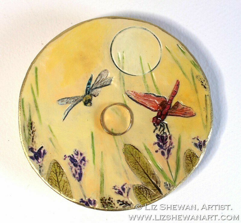 DragonFlies Trinket Dish | Miniature Painting