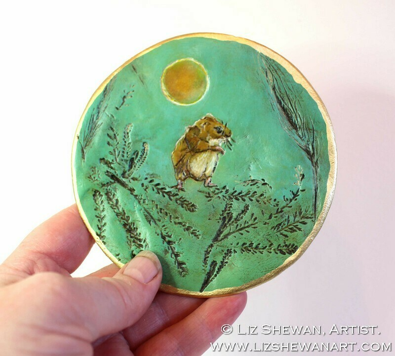 Friendly Mouse Trinket Dish | Miniature Painting