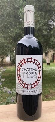 6 bouteilles Château le Moulin de la Marzelle 2018, Côtes de Bourg en conversion BIO