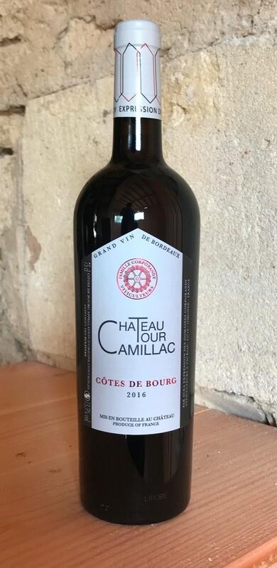 6 bouteilles Château Tour Camillac 2016, Côtes de Bourg