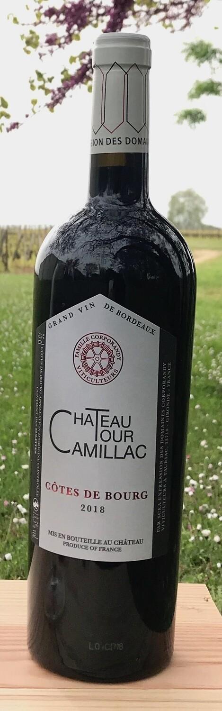 6 bouteilles de Château Tour Camillac 2018, Côtes de Bourg conversion BIO
