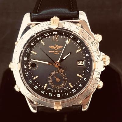 Breitling Duograph Gold Steel Automatic 40mm