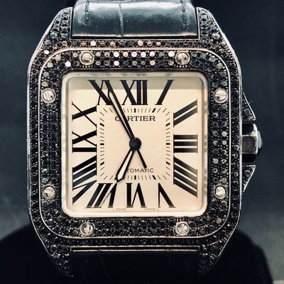 Cartier Santos 100 XL, Automatic, BLACK DIAMONDS, Fullset B&P2006