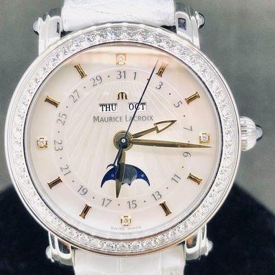 Maurice Lacroix Masterpiece Moonphase MoP & Diamonds Like New