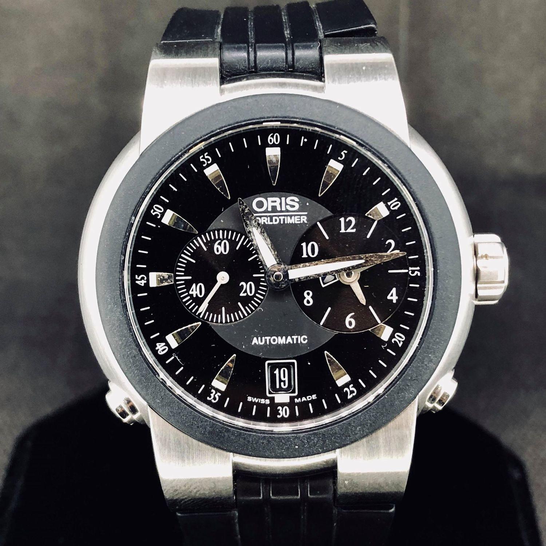 Oris TT1 World Timer Automatic, 42MM, Steel, MINT