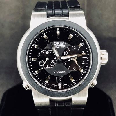 Oris TT1 World Timer Automatic, 42MM, Steel, MINT