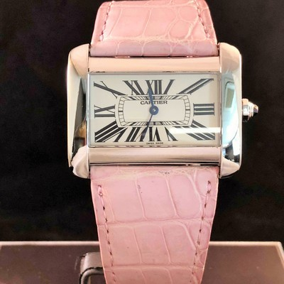 Cartier Tank Divan XL Steel - Quartz /w (GoldCRT BOX LTD