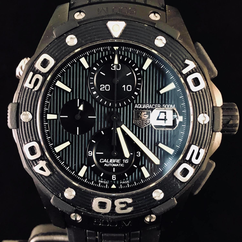TAG Heuer Aquaracer 500M Calibre 16 Titanium Black PVD FULL SET