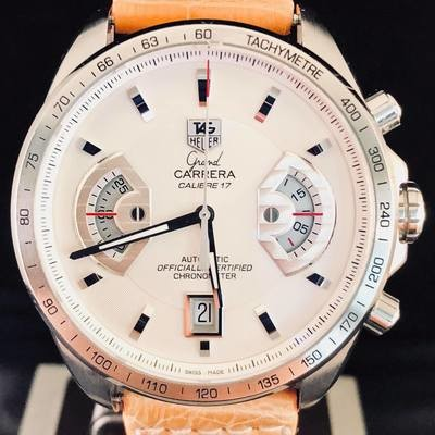 TAG Heuer Grand Carrera Calibre 17, Automatic, Steel, 43MM - MIN