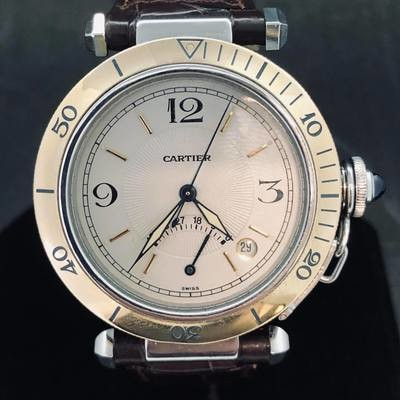 Cartier Pasha Power Reserve Steel & Yellow Gold 1033
