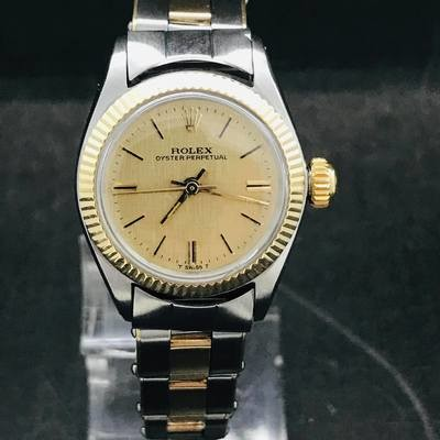 Rolex Oyster Perpetual 25 mm Gold/Steel Mint