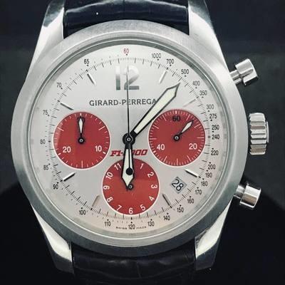 Girard Perregaux Ferrari F1-2000 Chronograph 40mm Steel Silver Dial Mint